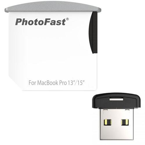 Картридер PhotoFast Memory Expansion Combo Kit для MacBook Pro 13/15 SD + USBФлешки<br>Картридер PhotoFast CR-8700 для MacBook Pro 13-15<br><br>Цвет товара: Белый<br>Материал: Пластик