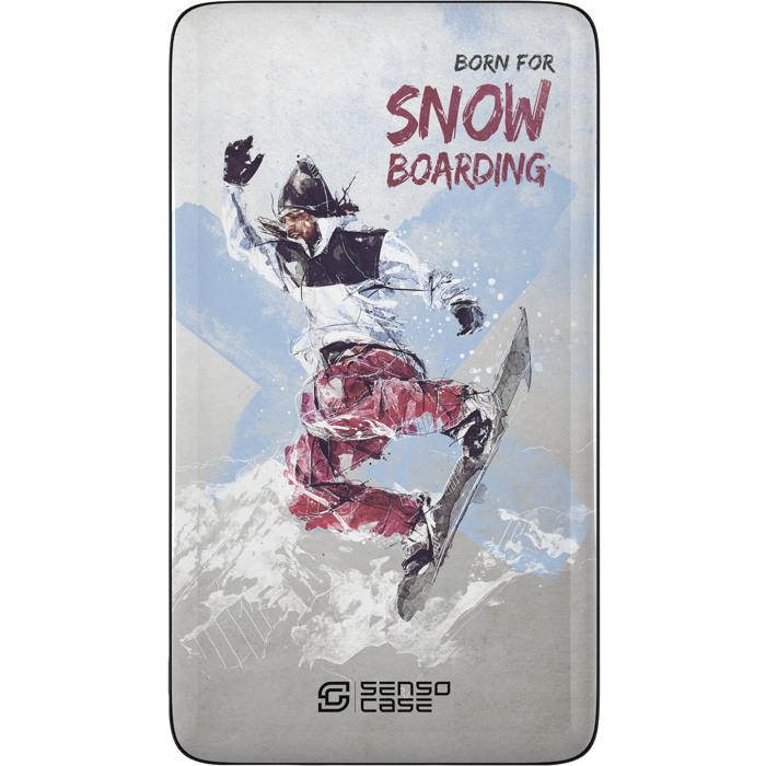 Внешний аккумулятор Sensocase Share Your Passion (10000 мАч) СноубордингДополнительные и внешние аккумуляторы<br>Расскажите о своем увлечении всему миру!<br><br>Цвет товара: Разноцветный<br>Материал: Пластик, силикон