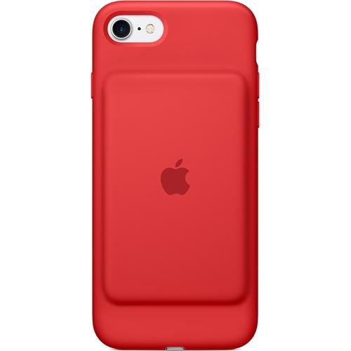 Чехол-аккумулятор Apple Smart Battery Case для iPhone 7 (Айфон 7) красныйЧехлы для iPhone 7<br>«Умный» чехол Apple Smart Battery Case создан специально для защиты и резервного питания вашего iPhone 7.<br><br>Цвет товара: Красный<br>Материал: Силикон