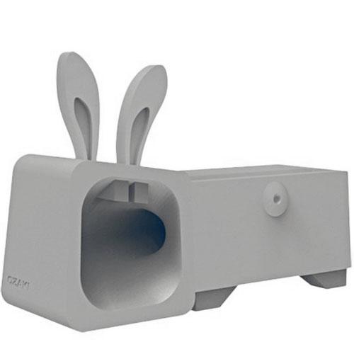 Подставка Ozaki O!Music Zoo для iPhone 4 / 4S «Кролик» сераяДокстанции/подставки<br>O!Music Zoo - уникальная подставка для вашего iPhone 4!<br><br>Цвет товара: Серый<br>Материал: Силикон