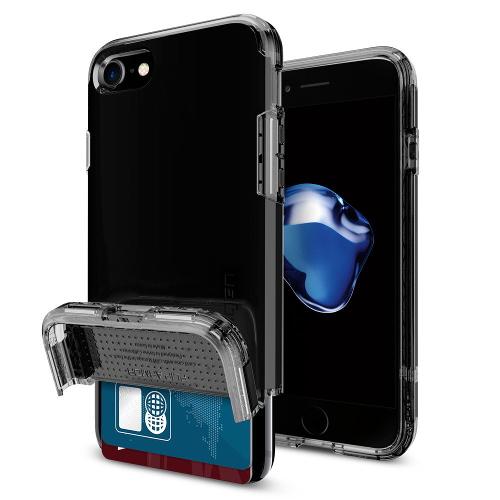 Чехол Spigen Flip Armor для iPhone 7/ iPhone 8 чёрная смола (SGP-042CS20844)Чехлы для iPhone 7<br>Чехол Spigen Flip Armor для iPhone 7 (Айфон 7) чёрная смола (SGP-042CS20844)<br><br>Цвет товара: Чёрный<br>Материал: Поликарбонат, полиуретан