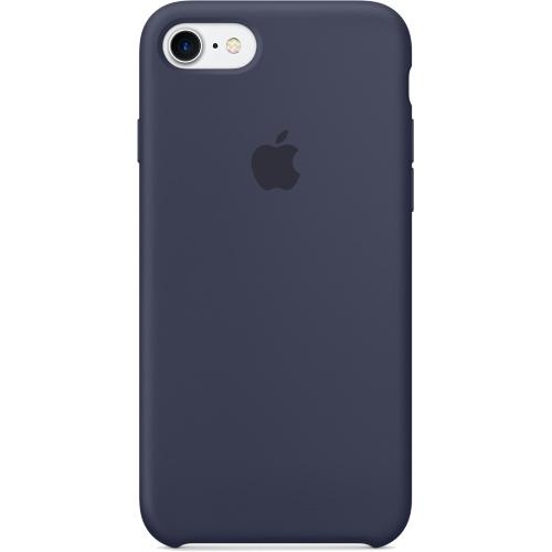 Силиконовый чехол Apple Case для iPhone 7 (Айфон 7) тёмно-синийЧехлы для iPhone 7<br>Силиконовый чехол  Apple Case для iPhone 7 - Midnight Blue<br><br>Цвет товара: Синий<br>Материал: Силикон