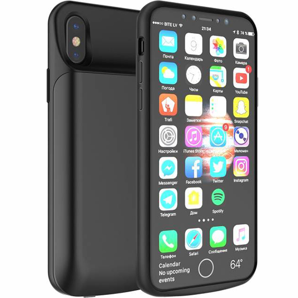 Чехол-аккумулятор Rock P41 6000 mAh для iPhone X чёрныйЧехлы для iPhone X<br>Rock P41 обеспечит ваш iPhone X защитой и энергией на 100%!<br><br>Цвет товара: Чёрный<br>Материал: Полиуретан