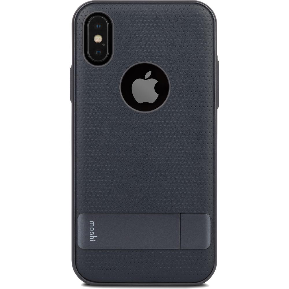 Чехол Moshi Kameleon Kickstand Case для iPhone X синийЧехлы для iPhone X<br>Чехол Moshi Kameleon Kickstand Case - это элегантная защита с интегрированной алюминиевой подставкой для iPhone.<br><br>Цвет: Синий<br>Материал: Поликарбонат, искусственная кожа, алюминий