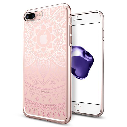 Чехол Spigen Liquid Crystal Shine для iPhone 7 Plus (Айфон 7 Плюс) розовый (SGP-043CS20960)