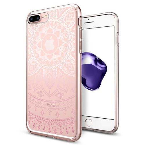 Чехол Spigen Liquid Crystal Shine для iPhone 7 Plus (Айфон 7 Плюс) розовый (SGP-043CS20960)Чехлы для iPhone 7 Plus<br>Клип-кейс Spigen для iPhone 7 Plus Liquid Crystal Shine розовый (043CS20960)<br><br>Цвет: Розовый<br>Материал: Термопластичный полиуретан TPU