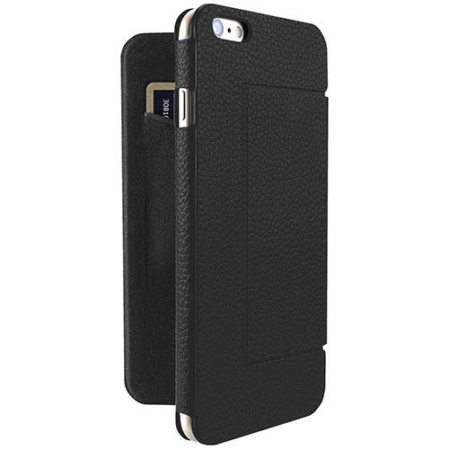 Чехол Just Mobile Quattro Folio для iPhone 6/6s Plus чёрныйЧехлы для iPhone 6s PLUS<br>Just Mobile Quattro Folio невероятно комфортен в использовании!<br><br>Цвет товара: Чёрный<br>Материал: Пластик, текстиль