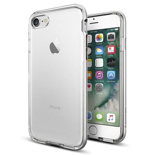 Чехол Spigen Neo Hybrid Crystal для iPhone 7/ iPhone 8 серебристый (SGP-042CS20676)Чехлы для iPhone 7<br>Чехол Spigen Neo Hybrid Crystal для iPhone 7 (Айфон 7) серебристый (SGP-042CS20676)<br><br>Цвет товара: Серебристый<br>Материал: Поликарбонат, полиуретан