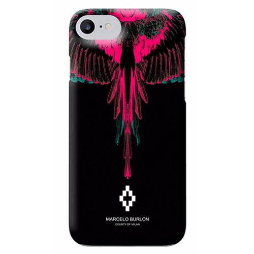 Чехол Marcelo Burlon для iPhone 7 Orelj (M7ORELY)Чехлы для iPhone 7<br>Чехол Marcelo Burlon представляет собой экстравагантную накладку для iPhone 7 от известного модельера из Милана.<br><br>Цвет товара: Чёрный<br>Материал: Поликарбонат
