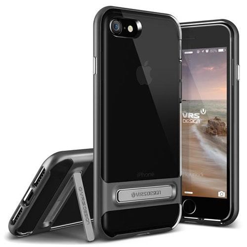 Чехол Verus Crystal Bumper для iPhone 7 (Айфон 7) стальной (VRIP7-CRBDS)Чехлы для iPhone 7<br>Чехол Verus для iPhone 7 Crystal Bumper, стальной (904599)<br><br>Цвет товара: Серый космос<br>Материал: Поликарбонат, полиуретан