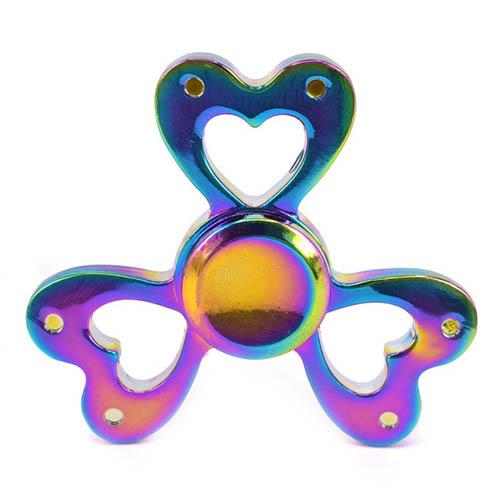 Спиннер Fidget Glory Rainbow Series Сердца SP4549Игрушки-антистресс<br>Благодаря покрытию «хамелеон» спиннер Fidget Glory захватывает внимание с первой секунды!<br><br>Цвет товара: Разноцветный<br>Материал: Металл