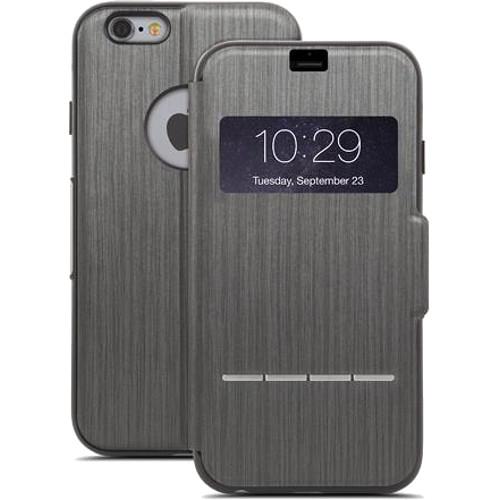 Чехол Moshi SenseCover для iPhone 6/6s Plus графитЧехлы для iPhone 6s PLUS<br>Moshi SenseCover — безупречное слияние защиты и свежих инженерных идей. Чехол-книжка с сенсорным покрытием позволяет использовать многие функции...<br><br>Цвет товара: Серый<br>Материал: Поликарбонат, полиуретановая кожа