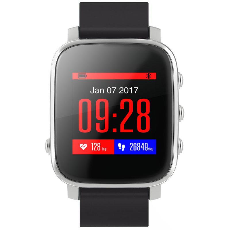 Умные часы SMA Time серебристые с чёрным ремешкомУмные часы<br>SMA Time смарт-часы - серебрянный/черный<br><br>Цвет товара: Серебристый<br>Материал: Алюминий