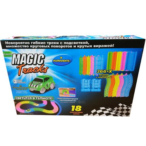 Светящийся конструктор Magic Tracks (366 деталей)3D пазлы и конструкторы<br>Играть с Magic Tracks вам и вашим детям будет невероятно весело!<br><br>Цвет: Разноцветный<br>Материал: Пластик<br>Модификация: 366