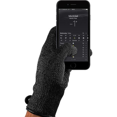 Перчатки Mujjo Single Layered Touchscreen Gloves для iPhone/iPod/iPad/etc чёрные (Размер L)Перчатки для экрана<br>Перчатки Mujjo Single Layered безупречно подходят для работы с сенсорными экранами, вы можете пользоваться гаджетами, сохраняя при этом свои руки в ...<br><br>Цвет товара: Чёрный<br>Материал: Трикотаж, флис (подкладка), кожа, силикон<br>Модификация: L