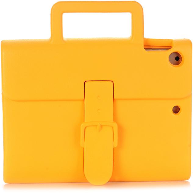 Чехол DoDo Briefcase Kids Shockproof для iPad Air / iPad Air 2 / iPad (2017) оранжевыйЧехлы для iPad Air<br><br><br>Цвет товара: Оранжевый<br>Материал: Силикон