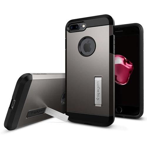 Чехол Spigen Tough Armor для iPhone 7 Plus стальной (043CS20529)Чехлы для iPhone 7 Plus<br>Обеспокоены безопасностью вашего iPhone 7 Plus? С бестселлером от Spigen — чехлом Tough Armor — вам больше никогда не придётся об этом волноваться!<br><br>Цвет товара: Серый<br>Материал: Поликарбонат, полиуретан
