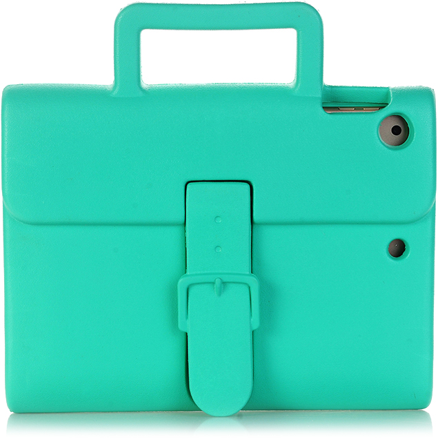 Чехол DoDo Briefcase Kids Shockproof для iPad Air / iPad Air 2 / iPad (2017) зелёныйЧехлы для iPad Air<br><br><br>Цвет товара: Зелёный<br>Материал: Силикон