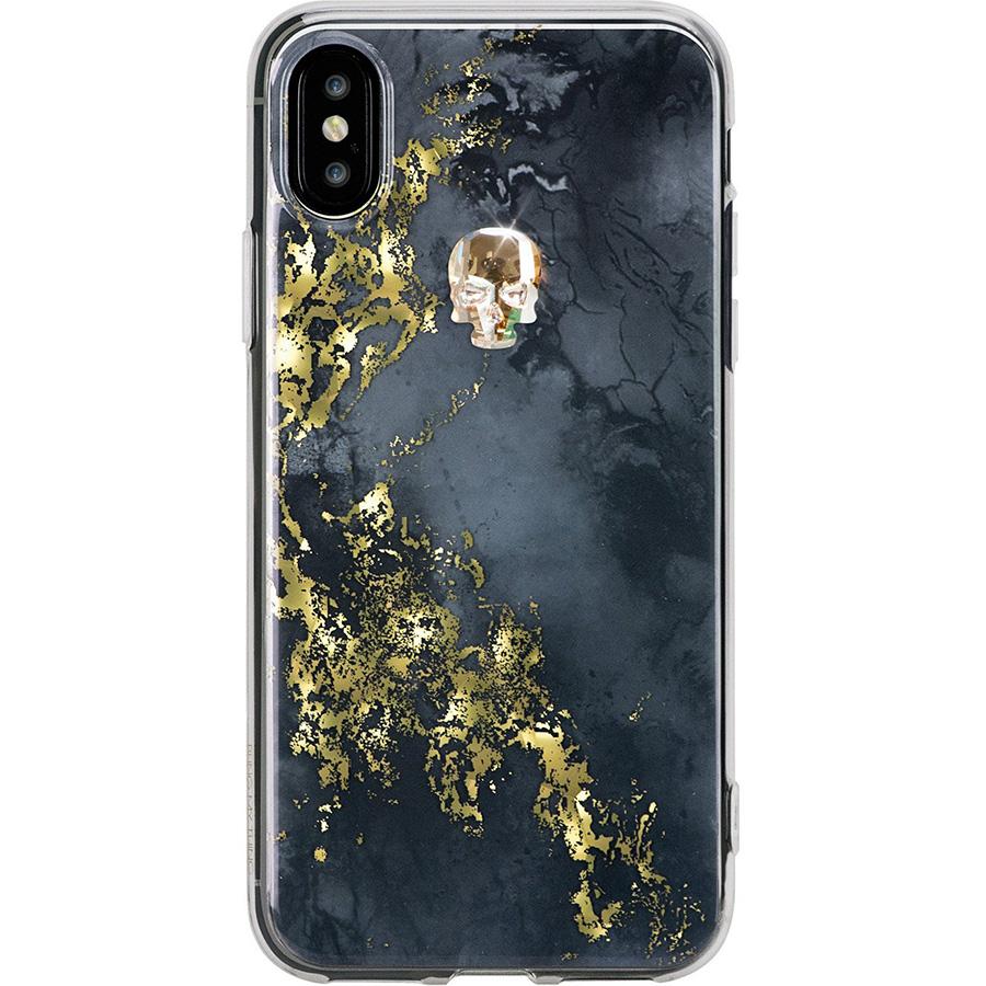 Чехол Bling My Thing Treasure Collection Onyx для iPhone X золотой черепЧехлы для iPhone X<br>Bling My Thing Treasure Collection превратит ваш iPhone X в произведение искусства!<br><br>Цвет товара: Чёрный<br>Материал: Поликарбонат, полиуретан