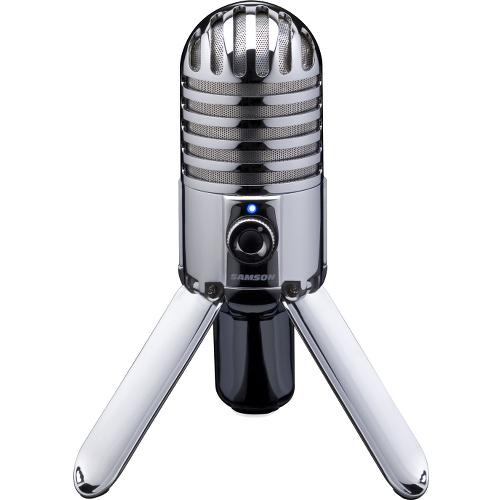 Студийный USB-микрофон Samson Meteor MicОборудование для звукозаписи<br>Микрофон Samson Meteor mic<br><br>Цвет: Серебристый<br>Материал: Металл