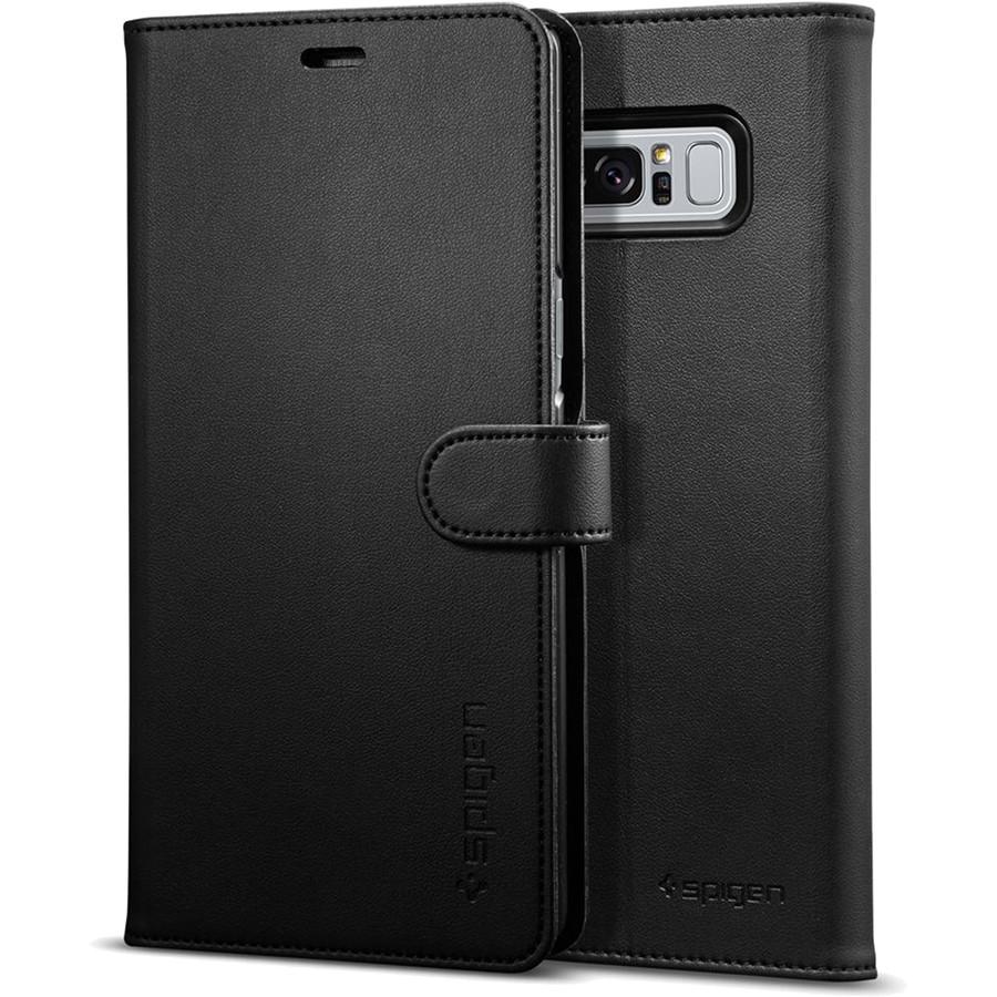 Чехол Spigen Wallet S для Samsung Galaxy Note 8 чёрный (587CS22095)Чехлы для Samsung Galaxy Note<br>Spigen Wallet S можно использовать одновременно и как чехол для телефона и как бумажник.<br><br>Цвет: Чёрный<br>Материал: Эко-кожа, поликарбонат