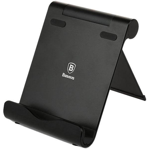 Подставка Baseus Joyous Series Desktop Bracket для смартфонов и планшетов чёрнаяДокстанции/подставки<br>Baseus Joyous Series Desktop Bracket - универсальная и очень удобная подставка!<br><br>Цвет товара: Чёрный<br>Материал: Алюминий, силикон