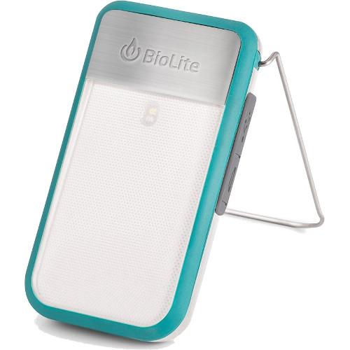 Фонарь BioLite PowerLight Mini с аккумулятором голубойГаджеты для туризма<br>Фонарь BioLite PowerLight Mini с аккумулятором голубой<br><br>Цвет товара: Голубой<br>Материал: Металл, пластик