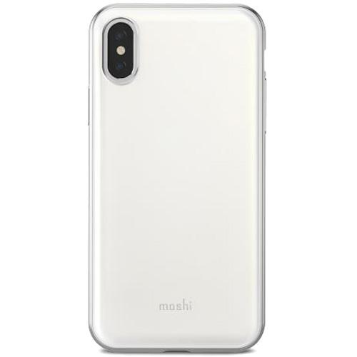 Чехол Moshi iGlaze для iPhone X белыйЧехлы для iPhone X<br>iGlaze от Moshi для iPhone X — чехол с гибридной конструкцией, которая сочетает в себе дизайн, функциональность и защиту при падениях.<br><br>Цвет товара: Белый<br>Материал: Поликарбонат, полиуретан