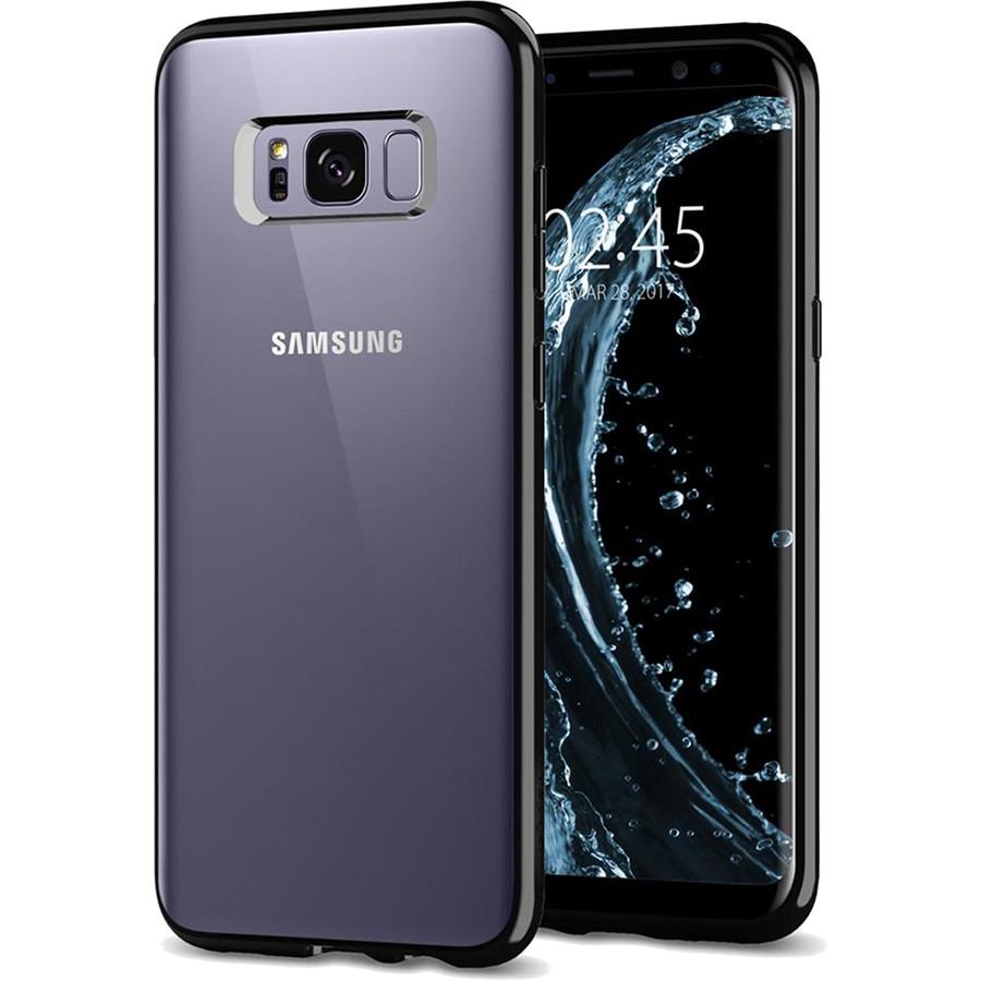 Чехол Spigen Ultra Hybrid для Samsung Galaxy S8 чёрный Midnight (565CS21630)Чехлы для Samsung Galaxy S8/S8 Plus<br>Spigen Ultra Hybrid создан, чтобы идеально соответствовать формам флагмана Samsung — Galaxy S8.<br><br>Цвет товара: Чёрный<br>Материал: Поликарбонат, термопластичный полиуретан