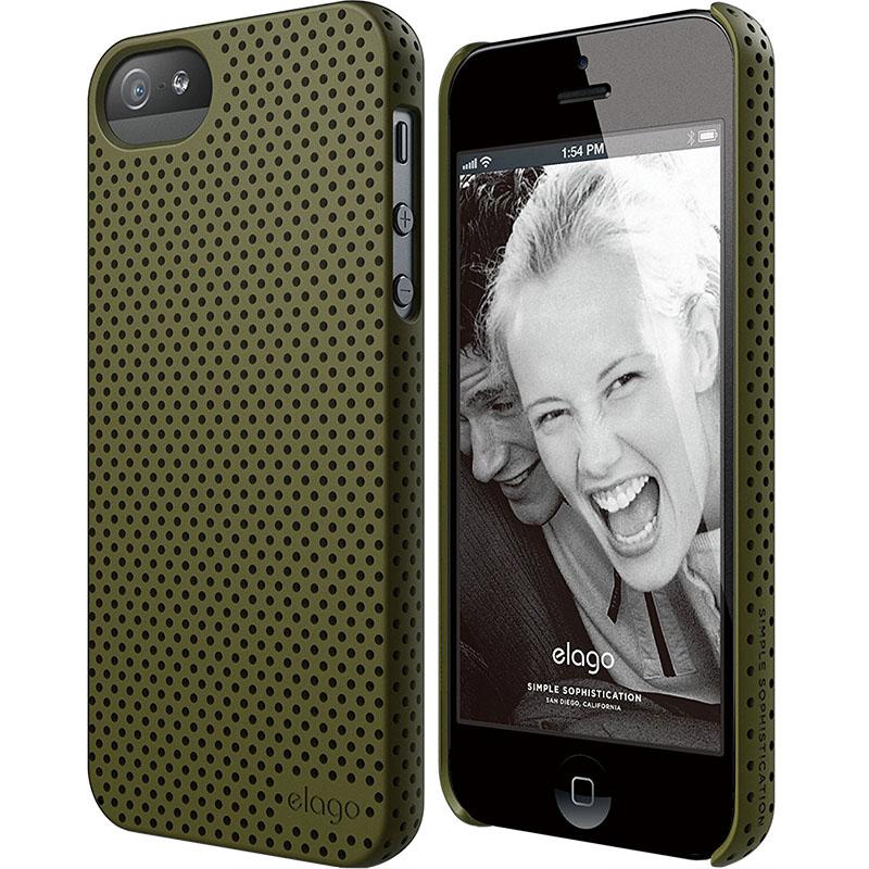 Чехол Elago Breathe Hard PC (perforated) для iPhone 5S/SE зелёныйЧехлы для iPhone 5/5S/SE<br>Elago Breathe Hard PC справляется с защитой iPhone на отлично!<br><br>Цвет: Зелёный<br>Материал: Поликарбонат, полиуретан