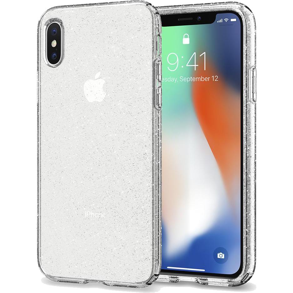 Чехол Spigen Liquid Crystal Glitter для iPhone X Crystal Quartz (057CS22122)Чехлы для iPhone X<br>Чехол Spigen Liquid Crystal Glitter сделан для тех, кто предпочитает классику и минимализм, а не кратковременные модные веяния.<br><br>Цвет товара: Прозрачный<br>Материал: Термопластичный полиуретан
