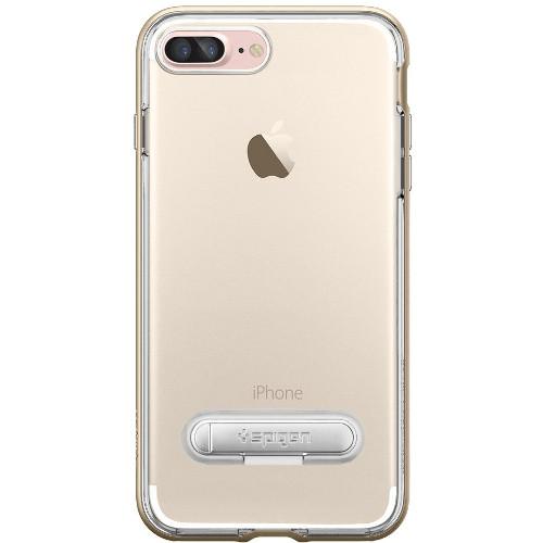Чехол Spigen Crystal Hybrid для iPhone 7 Plus (Айфон 7 Плюс) золотой (SGP-043CS20509)Чехлы для iPhone 7 Plus<br>Spigen Crystal Hybrid — идеальный чехол для минималистов, которые ценят максимальную функциональность!<br><br>Цвет товара: Золотой<br>Материал: Поликарбонат, термопластичный полиуретан (ТПУ)