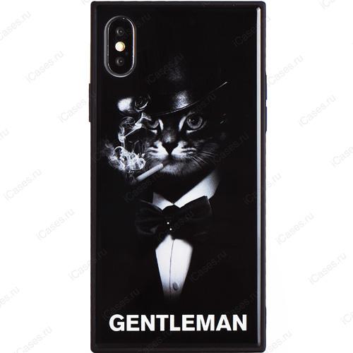 Чехол WK Design Azure Gentleman Series для iPhone X (Кот в шляпе)Чехлы для iPhone X<br>Оригинальный чехол WK Design, без сомнения, является превосходной комбинацией стиля и надежности!<br><br>Цвет товара: Чёрный<br>Материал: Пластик