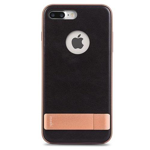 Чехол Moshi Kameleon Kickstand Case для iPhone 7 Plus (Айфон 7 Плюс) чёрный/золотистыйЧехлы для iPhone 7 Plus<br>Moshi Kameleon Kickstand Case - элегантная защита для iPhone 7 Plus!<br><br>Цвет товара: Чёрный<br>Материал: Поликарбонат, искусственная кожа, алюминий