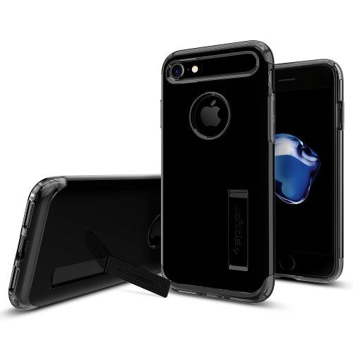 Чехол Spigen Slim Armor для iPhone 7/ iPhone 8 чёрная смола (SGP-042CS20842)Чехлы для iPhone 7<br>Spigen Slim Armor — это тончайшая двухслойная защита для вашего Айфон.<br><br>Цвет товара: Чёрный<br>Материал: Поликарбонат, полиуретан