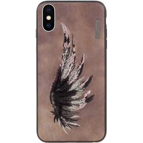 Чехол Nimmy Fantasy Denim для iPhone X (Крыло) коричневыйЧехлы для iPhone X<br>Чехлы Nimmy Fantasy Denim — это тандем стиля и качества.<br><br>Цвет: Коричневый<br>Материал: Пластик, силикон, текстиль