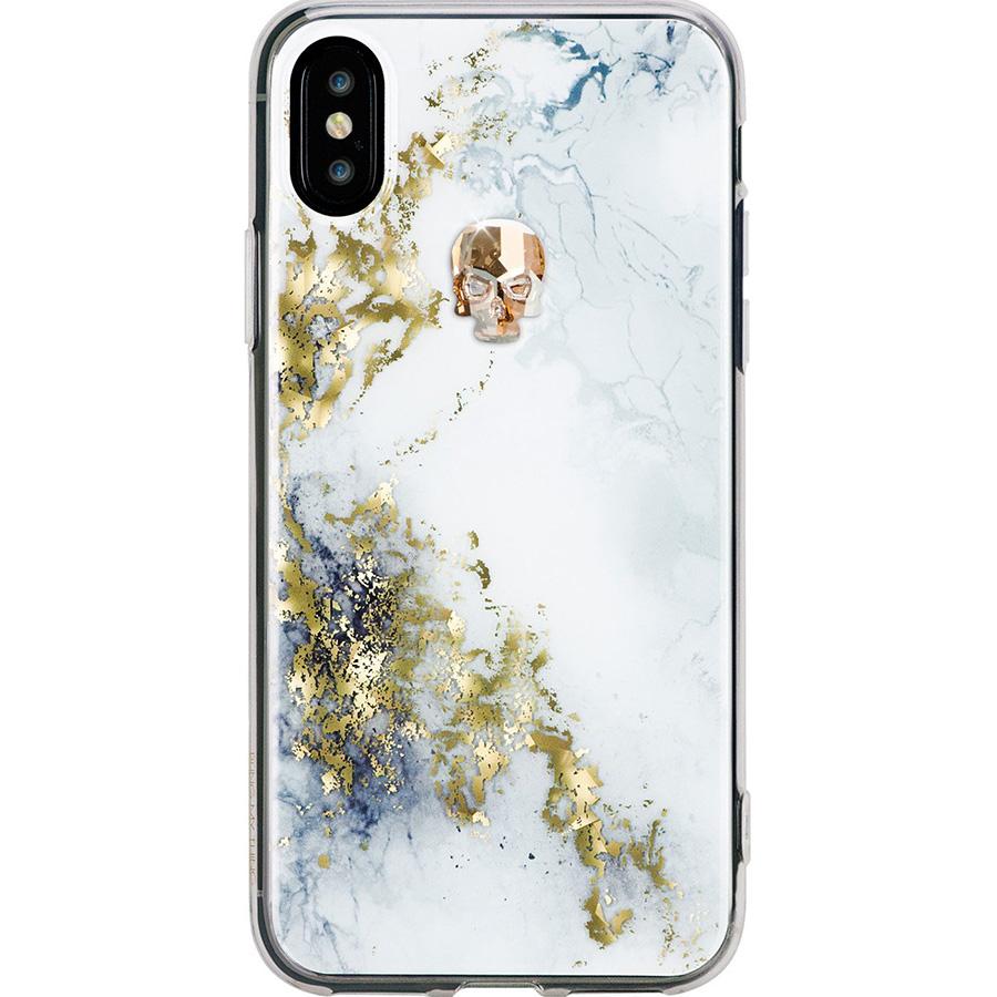 Чехол Bling My Thing Treasure Collection Alabaster для iPhone X золотой черепЧехлы для iPhone X<br>Bling My Thing Treasure Collection превратит ваш iPhone X в произведение искусства!<br><br>Цвет товара: Белый<br>Материал: Поликарбонат, полиуретан