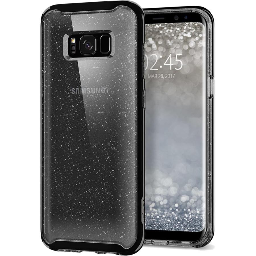 Чехол Spigen Neo Hybrid Crystal Glitter для Samsung Galaxy S8 Plus дымчатый кварц (571CS21660)Чехлы для Samsung Galaxy S8/S8 Plus<br>Ультратонкий и ультралегкий и кристально-прозрачный чехол Spigen Neo Hybrid Glitter создан специально для флагмана Samsung — Galaxy S8 Plus!<br><br>Цвет товара: Чёрный<br>Материал: Термопластичный полиуретан, поликарбонат