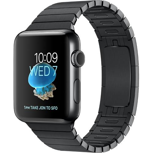 Часы Apple Watch Series 2 42 мм, нержавеющая сталь «чёрный космос», блочный браслет «чёрный космос»Умные часы<br>Часы Apple Watch Series 2 42 мм, нержавеющая сталь «чёрный космос», блочный браслет «чёрный космос»<br><br>Цвет товара: Чёрный<br>Материал: Нержавеющая сталь 316L «Чёрный космос»<br>Модификация: 42 мм