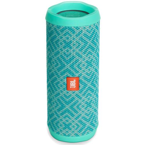 Портативная акустическая система JBL Flip 4 Special Edition MosaicКолонки и акустика<br>Портативная и водонепроницаемая беспроводная акустическая система JBL Flip 4 с мощным звучанием.<br><br>Цвет товара: Бирюзовый<br>Материал: Текстиль, пластик