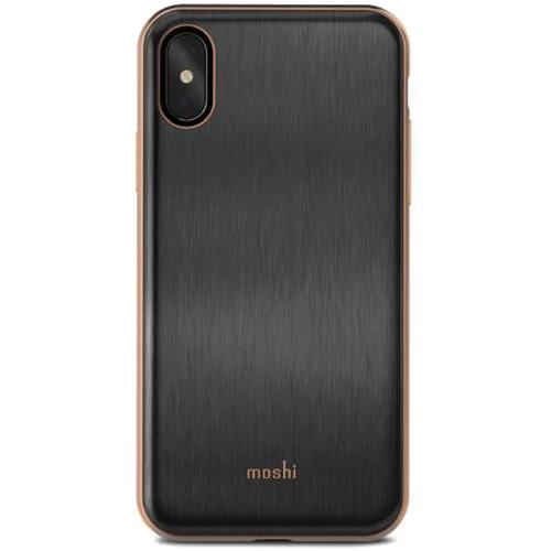 Чехол Moshi iGlaze для iPhone X чёрныйЧехлы для iPhone X<br>iGlaze от Moshi для iPhone X — чехол с гибридной конструкцией, которая сочетает в себе дизайн, функциональность и защиту при падениях.<br><br>Цвет товара: Чёрный<br>Материал: Поликарбонат, полиуретан