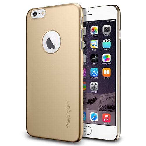 Чехол Spigen Thin Fit A для iPhone 6 Plus (5,5) золотистый SGP10889Чехлы для iPhone 6/6s Plus<br>Spigen Thin Fit A подчеркнёт безупречный стиль вашего iPhone 6 Plus.<br><br>Цвет товара: Золотой<br>Материал: Поликарбонат