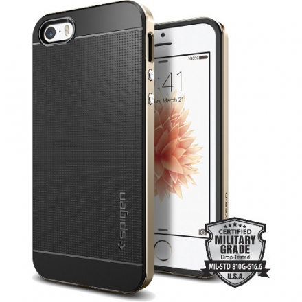 Чехол Spigen Neo Hybrid для iPhone SE (SGP-041CS20250)Чехлы для iPhone 5s/SE<br>Чехол Spigen Neo Hybrid для iPhone SE золотой (SGP-041CS20250)<br><br>Цвет товара: Золотой<br>Материал: Металл, пластик, резина