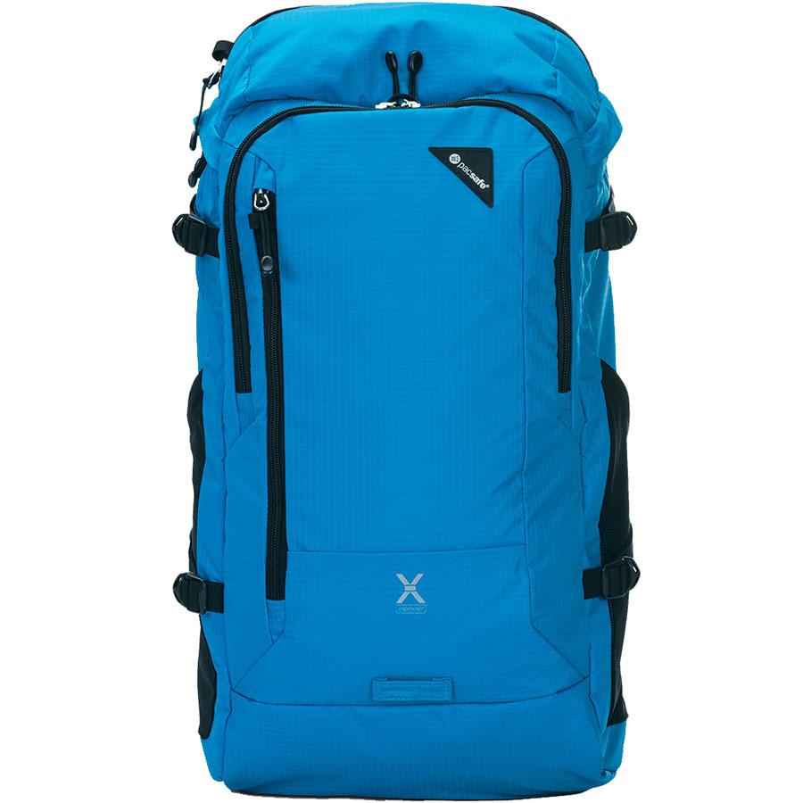 Рюкзак PacSafe Venturesafe X30 синийРюкзаки<br>Ventursafe X30 — это комфорт, невероятно долгий срок службы и классный дизайн!<br><br>Цвет товара: Синий<br>Материал: Текстиль, нержавеющая сталь, пластик