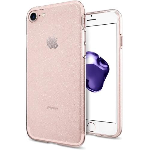 Чехол Spigen Liquid Crystal Glitter для iPhone 7 (Айфон 7) кристально-розовый (SGP-042CS21419)Чехлы для iPhone 7<br>Spigen Liquid Crystal Glitter — это первый чехол с блеском, который отлично смотрится на iPhone 7<br><br>Цвет товара: Розовый<br>Материал: Термопластичный полиуретан