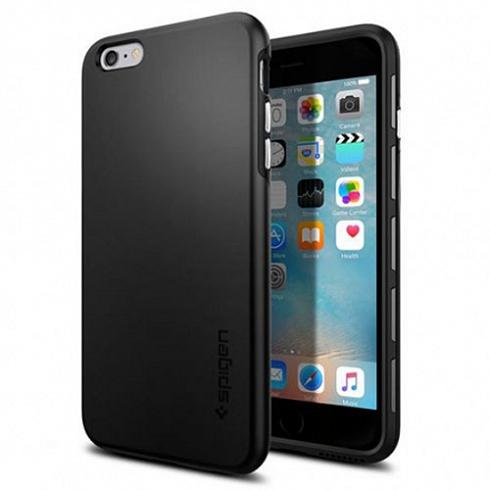 Чехол Spigen Thin Fit Hybrid для iPhone 6s Plus чёрный (SGP11732)Чехлы для iPhone 6s PLUS<br>Spigen Thin Fit Hybrid — один из самых тонких, надёжных и привлекательных чехлов для iPhone 6s Plus.<br><br>Цвет товара: Чёрный<br>Материал: Поликарбонат, полиуретан