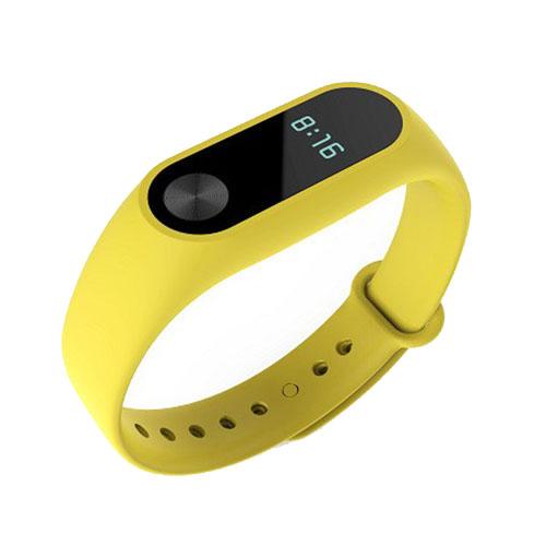 Браслет Xiaomi Mi Band 2 жёлтыйБраслеты, кардиодатчики<br>В Xiaomi Mi Band 2 используются самые современные и надежные технологии!<br><br>Цвет товара: Жёлтый<br>Материал: Пластик, силикон