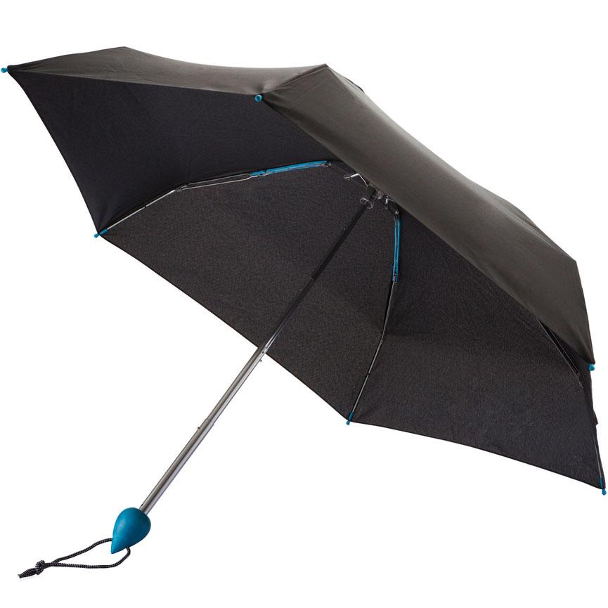 Карманный складной зонт XD Design Droplet (P850.015) с синей ручкойТуризм и отдых на природе<br>XD Design Droplet — сверхкомпактный и очень лёгкий складной зонт!<br><br>Цвет товара: Синий<br>Материал: Ткань rPet, эко-пластик reSound, алюминий