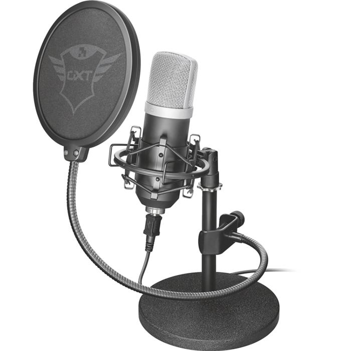 Микрофон Trust GXT 252 EmitaСтудийные микрофоны<br>С Trust GXT 252 Emita процесс записи звука станет простым как никогда!<br><br>Цвет: Чёрный<br>Материал: Пластик, металл