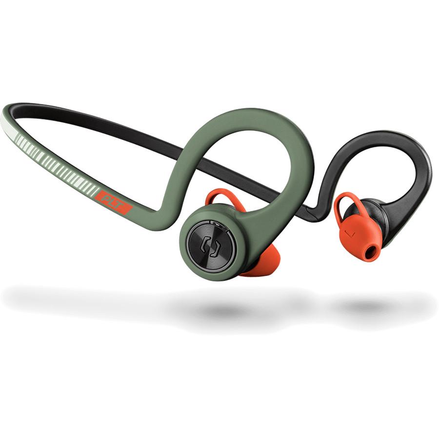Наушники Plantronics BackBeat Fit Stealth GreenВнутриканальные наушники<br>Беспроводные наушники Plantronics BackBeat Fit идеальны для активных людей, занимающихся спортом.<br><br>Цвет товара: Зелёный<br>Материал: Пластик, нанопокрытие P2i